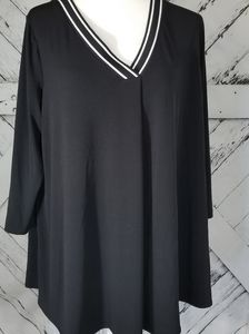 ALFANI Women's Black Blouse Size 1XL